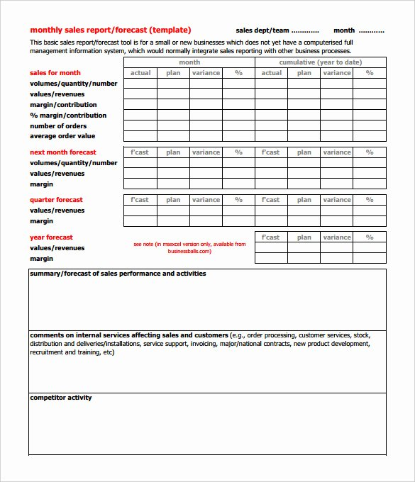 Sales Call Report Template Lovely 30 Monthly Sales Report Templates Pdf Doc Apple Pages