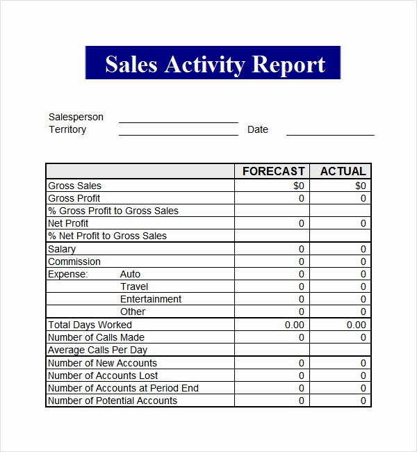 Sales Call Report Template Lovely Sales Report Template 9 Free Pdf Doc Download