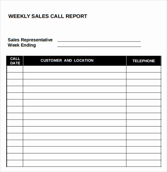 Sales Call Reporting Template Beautiful Daily Sales Call Report Template Free Download Templates