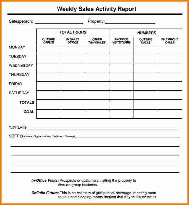 Sales Call Reporting Template Unique 5 Sales Call Report Template