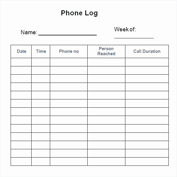 Sales Call Tracking Template Beautiful Call Tracker Template Printable Call Log Templates In Word