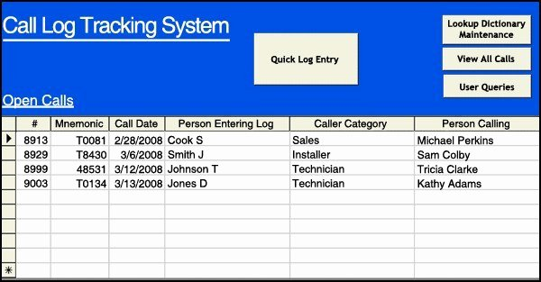 Sales Call Tracking Template Fresh 4 Sales Call Log Excel Templates Excel Xlts