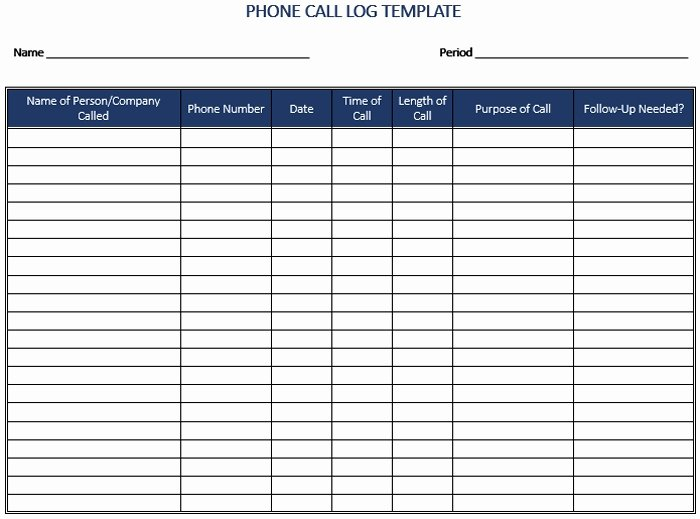 Sales Call Tracking Template Inspirational Call Log Template Beepmunk