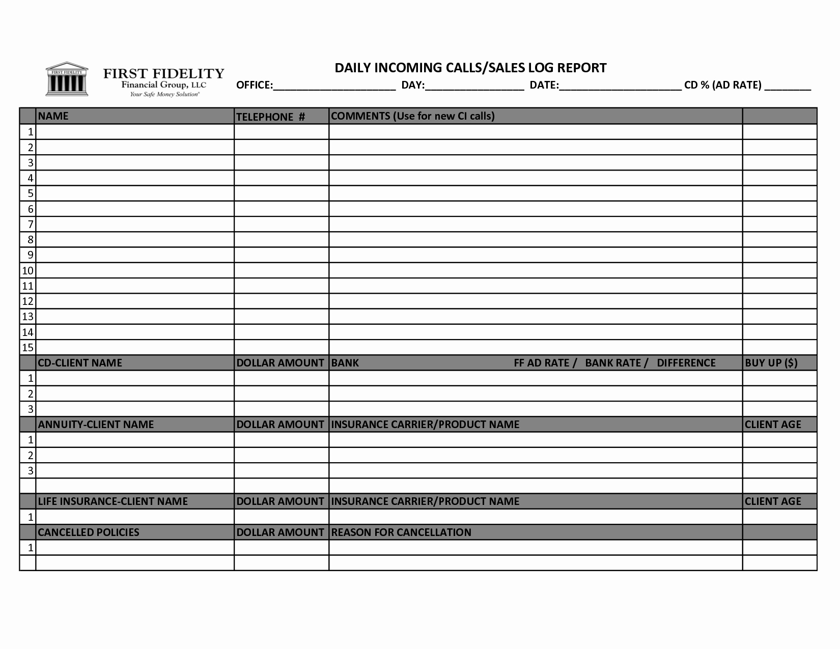 Sales Call Tracking Template Lovely Best S Of Printable Daily Sales Sheet Sales Log