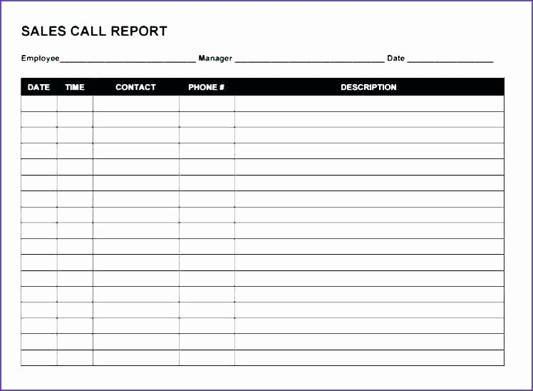 Sales Call Tracking Template New Call Tracking Sheet Template – Chaseevents
