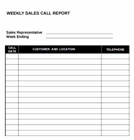 Sales Calls Report Template Elegant 10 Sales Call Planning Template Tiury