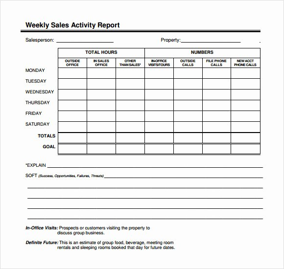 Sales Calls Report Template Fresh 12 Sales Call Report Sample – Free Examples & format