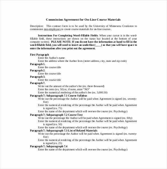 Sales Commission Contract Template Fresh 19 Mission Agreement Templates Word Pdf Pages