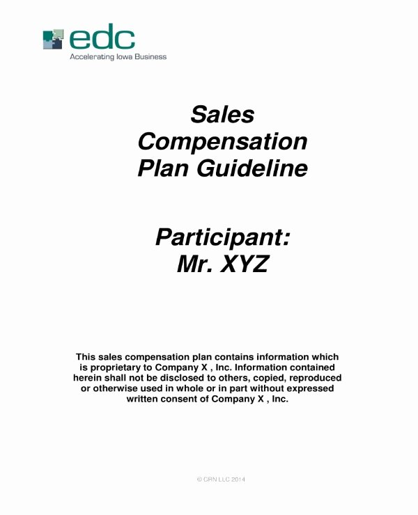 Sales Commission Plan Template Elegant 4 Sales Pensation Plan Templates Pdf