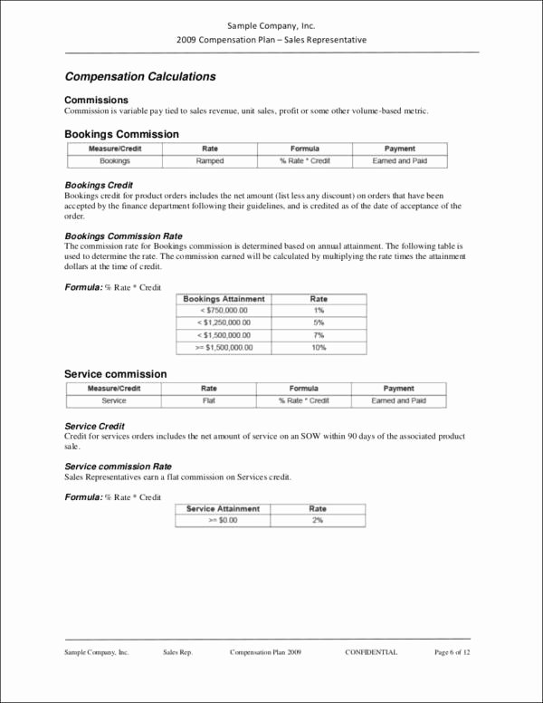 Sales Commission Plan Template Luxury 9 Sales Mission Policy Samples & Templates