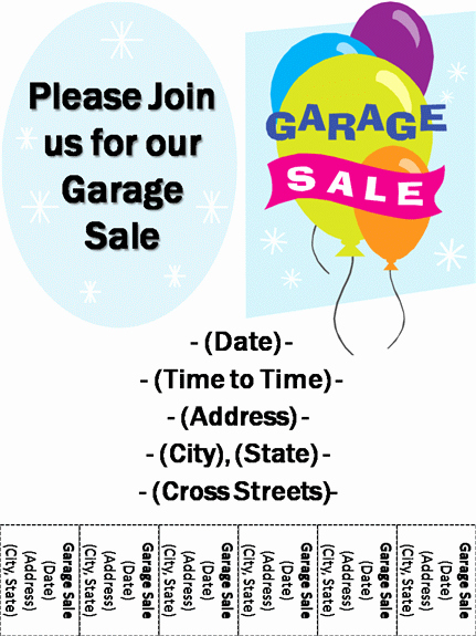 Sales Flyer Template Word Awesome 15 Free Yard Sale Flyers Great Help Demplates