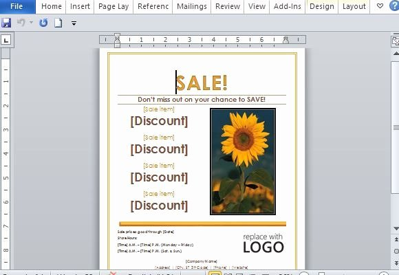Sales Flyer Template Word Awesome Free Powerpoint Templates & Backgrounds