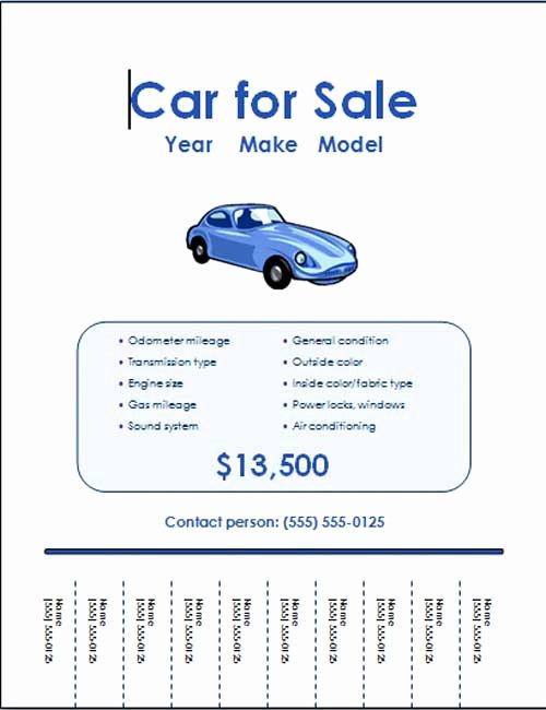 Sales Flyer Template Word Elegant Free Car for Sale Flyer Templates Free Line Flyers