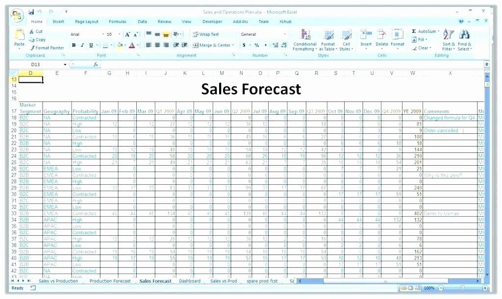 Sales forecast Template Excel Awesome Bud forecast Spreadsheet Template Fresh Excel Cash Flow