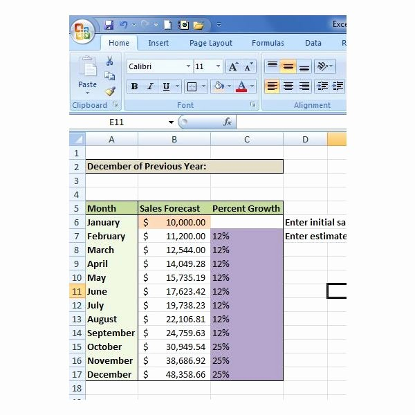 Sales forecast Template Excel Awesome How to Create A Sales forecast In Excel Free Excel Sales