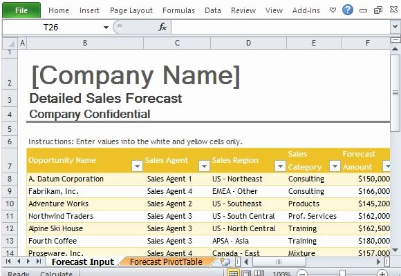 Sales forecast Template Excel Beautiful Sales forecast Template for Excel
