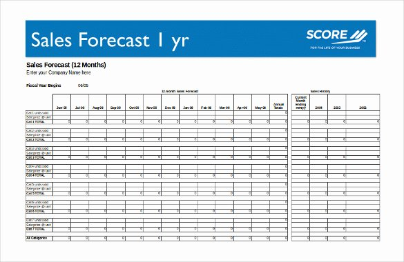 Sales forecast Template Excel Elegant 13 Sales Strategy Template Doc Excel Pdf