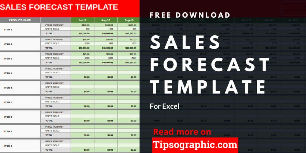 Sales forecast Template Excel Inspirational Sales forecast Template for Excel Free Download