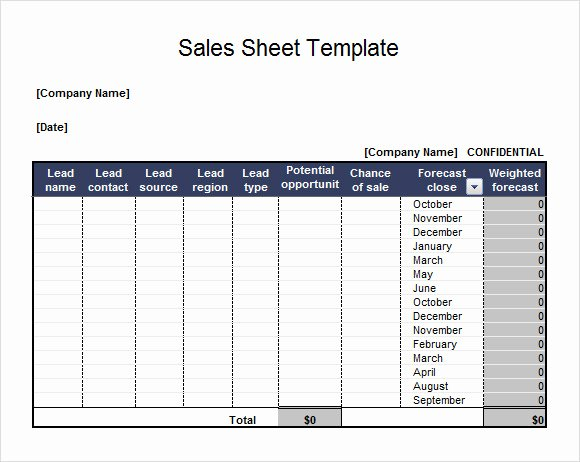 Sales Lead Tracker Excel Template Luxury 7 Sales Sheet Samples