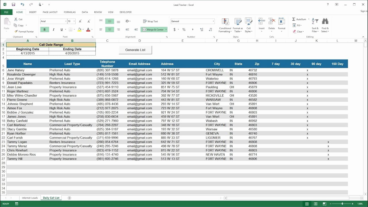 Sales Lead Tracker Excel Template New Excel Demo Lead Tracker