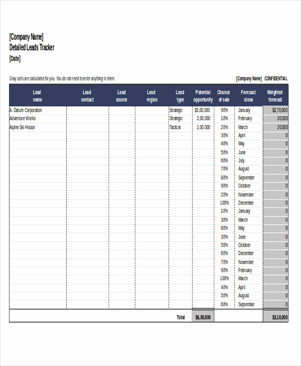 Sales Lead Tracking Template Best Of 6 Excel Sales Tracking Templates