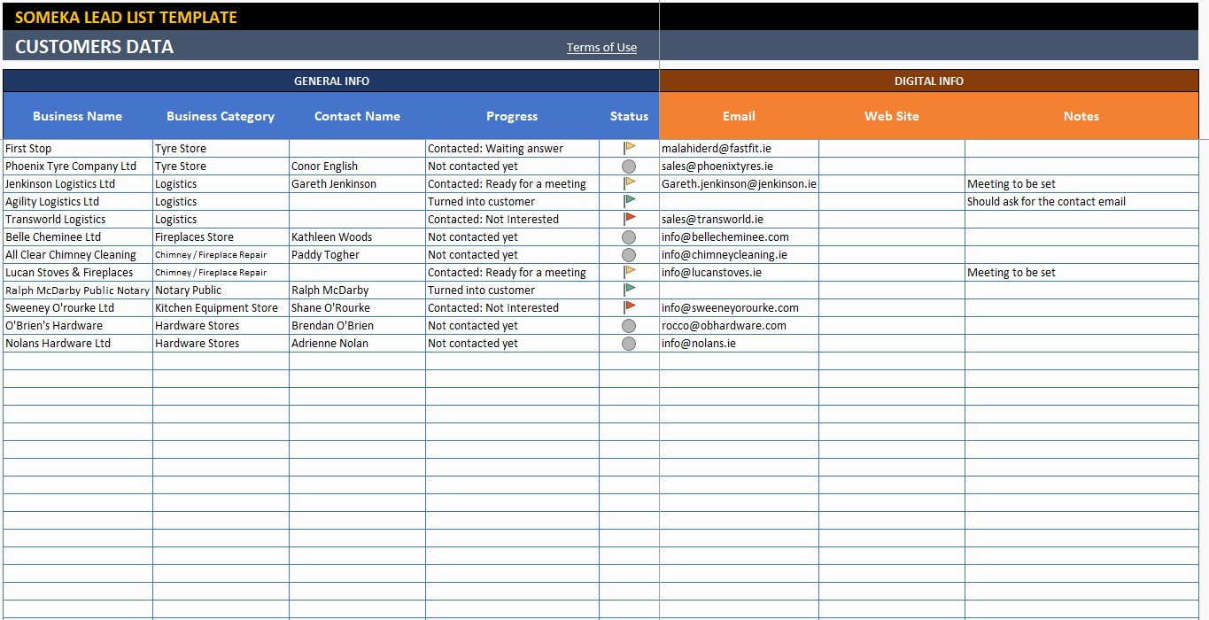 Sales Lead Tracking Template Unique Sales Lead Tracking Excel Template Free – Spreadsheet Template
