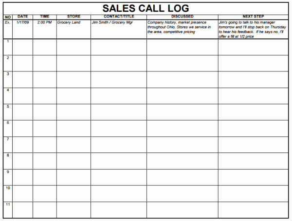 Sales Leads Excel Template Fresh 5 Sales Log Templates formats Examples In Word Excel
