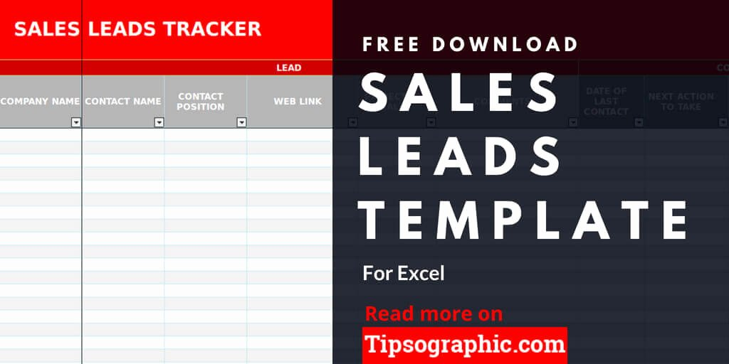 Sales Leads Excel Template New Sales Lead Template for Excel Free Download