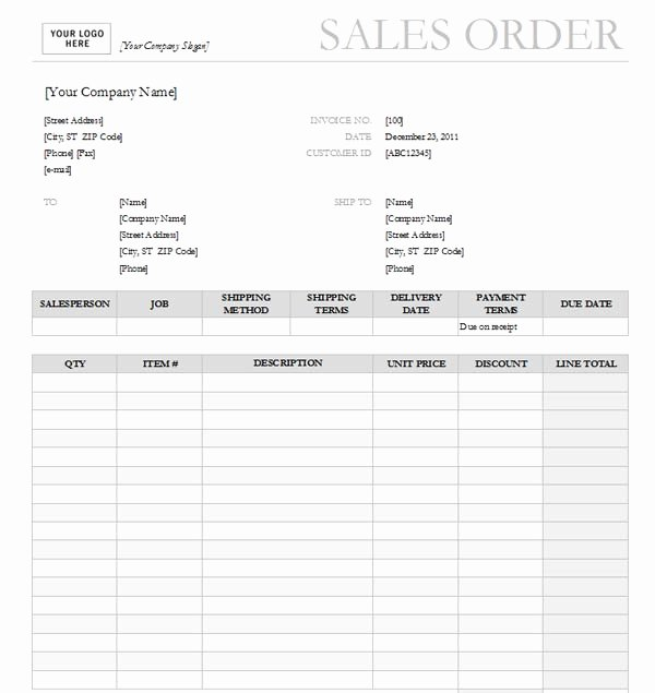 Sales order form Template Inspirational Sales order with Garamond Gray Design Excel format