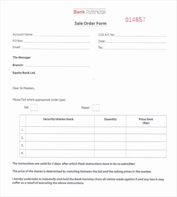 Sales order form Template Lovely 26 Sales order Templates – Free Sample Example format