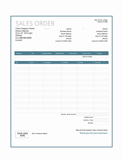 Sales order form Template Lovely Sales order Template Free Download Edit Fill Create