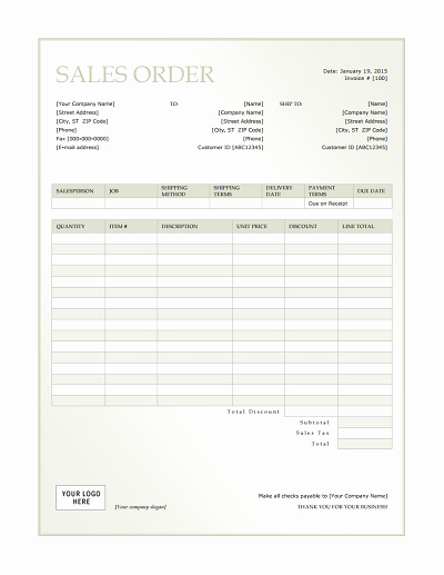 Sales order form Template Unique Sales order Template Free Download Edit Fill Create