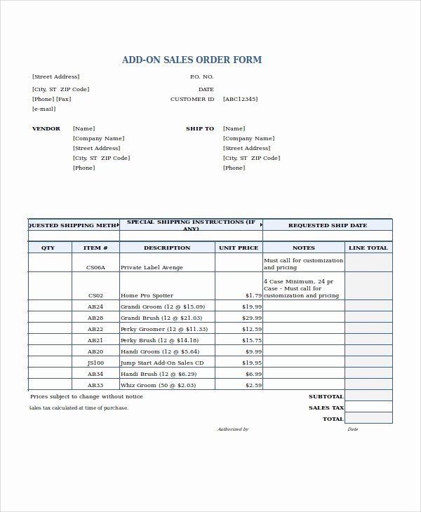 Sales order Template Excel Fresh Excel order form Template 19 Free Excel Documents