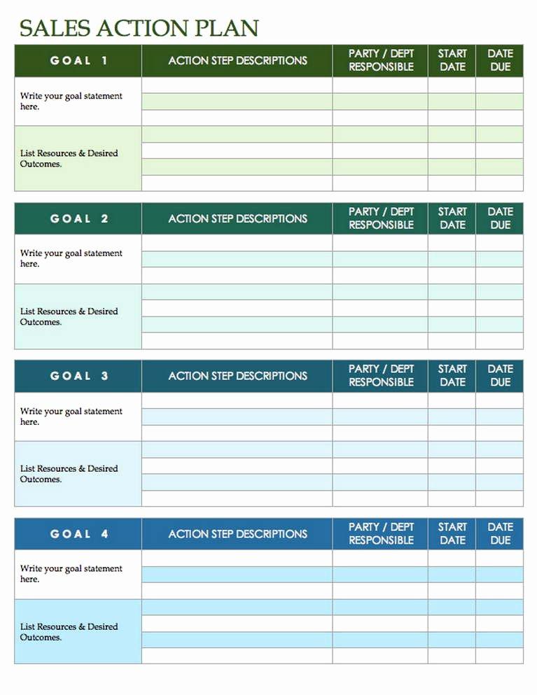 Sales Planning Template Excel Unique Sales Plan Template