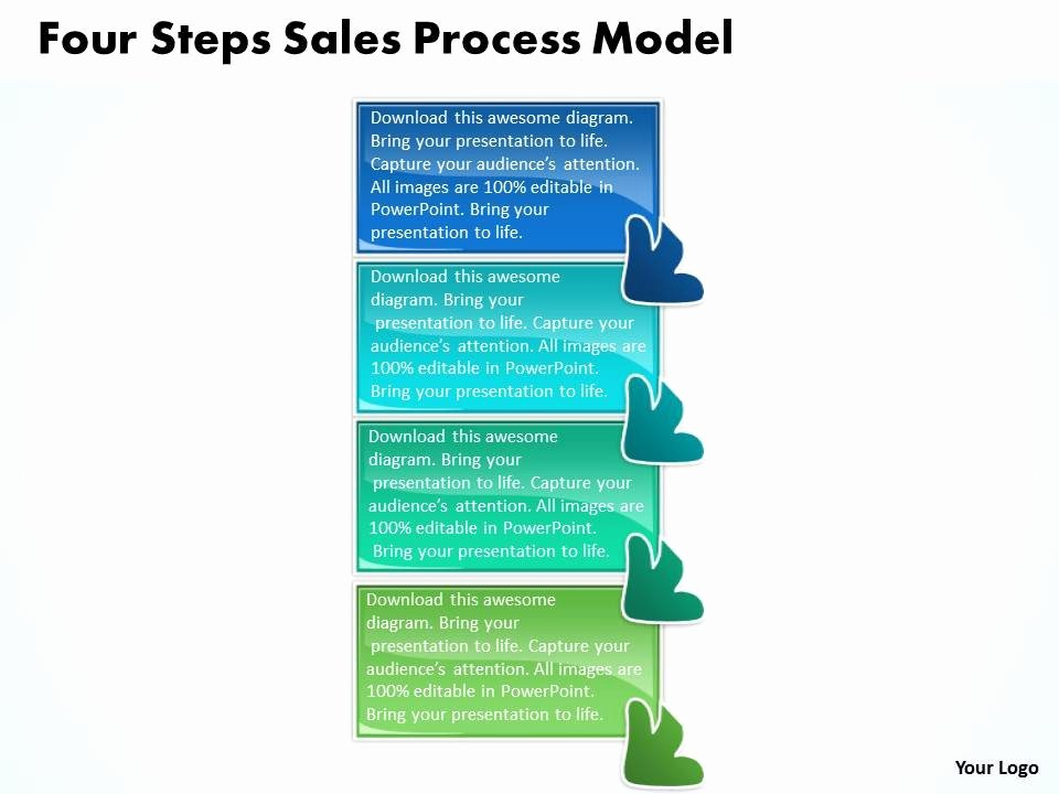 Sales Process Flow Chart Template Best Of Four Steps Sales Process Model Flow Chart Template
