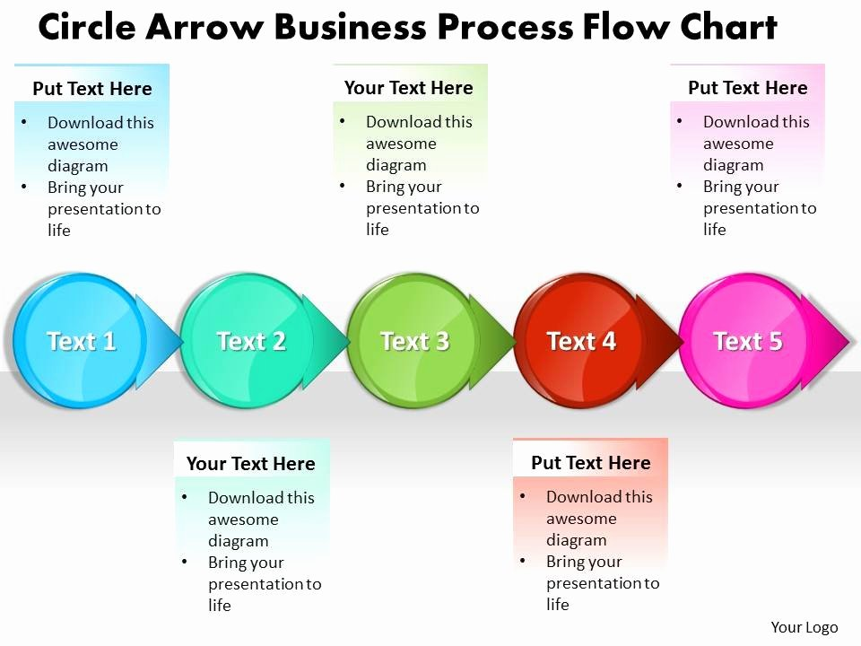 Sales Process Flow Chart Template Lovely Business Powerpoint Templates Circle Arrow Process Flow
