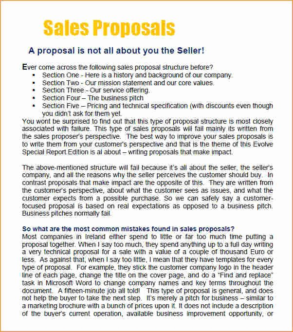 Sales Proposal Template Word Elegant Sales Proposal Template Business Proposal Templated
