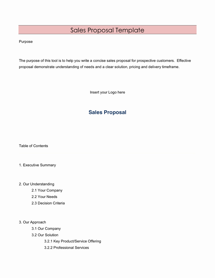 Sales Proposal Template Word Elegant Sales Proposal Template In Word and Pdf formats