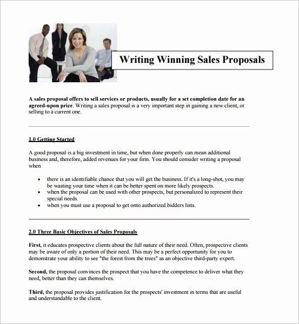 Sales Proposal Template Word Elegant Writing Proposal Templates 19 Free Word Excel Pdf