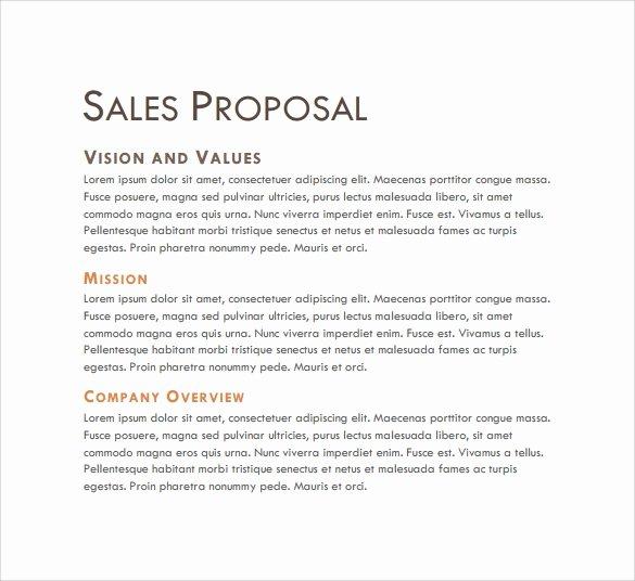 Sales Proposal Template Word Inspirational Sales Proposal Cover Letter Letter Template