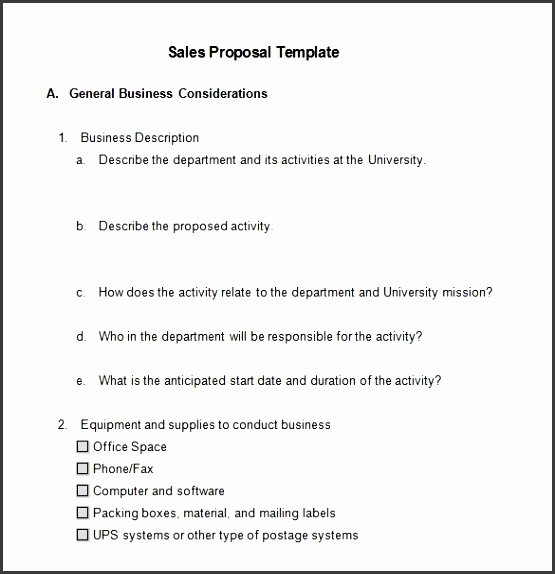 Sales Proposal Template Word Luxury 7 Free Sales Proposal Template Sampletemplatess
