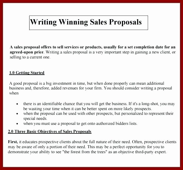 Sales Proposal Template Word New 6 Sample Sales Proposal Letters Pdf Word Sample Templates
