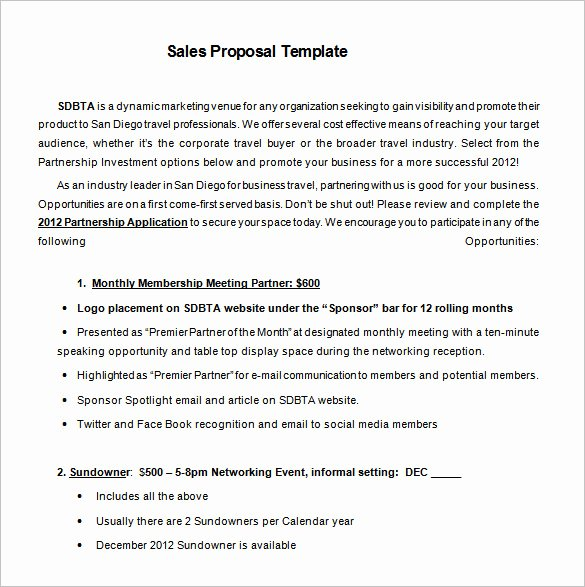 Sales Proposal Template Word Unique Proposal Templates – 140 Free Word Pdf format Download