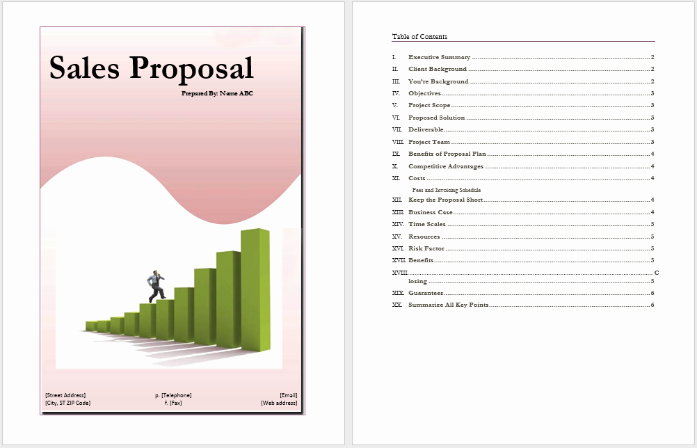 Sales Proposal Template Word Unique Sales Proposal Template Word Templates