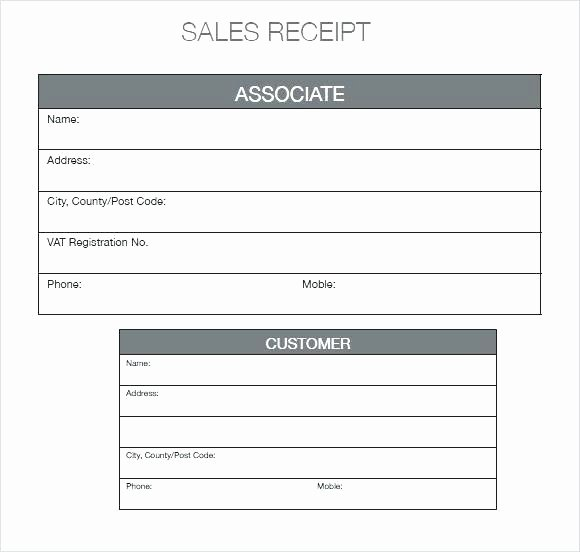Sales Receipt Template Excel Awesome Free Printable Sales Receipts Templates From Blank Receipt