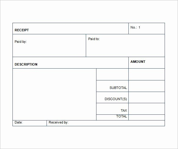 Sales Receipt Template Excel Awesome Sales Receipt Template Free Word Excel Pdf format