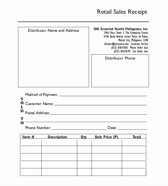 Sales Receipt Template Excel Best Of Sales Receipt Template for Selling A Caravan 9 Sales