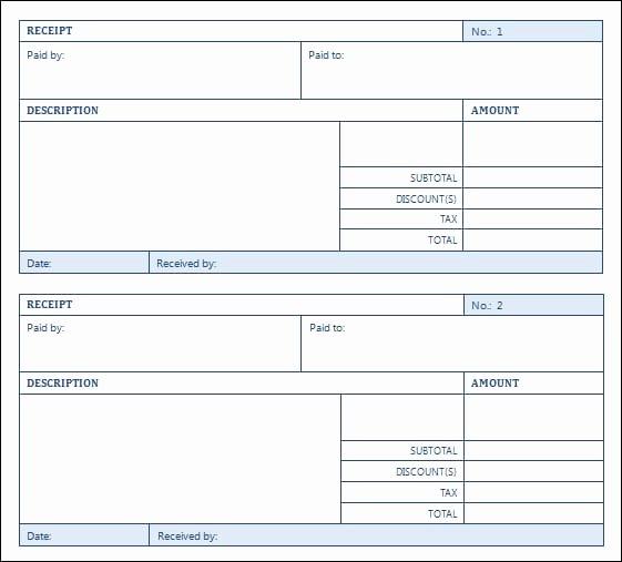 Sales Receipt Template Excel Best Of top 5 Layouts for Sales Receipt Templates Word Templates