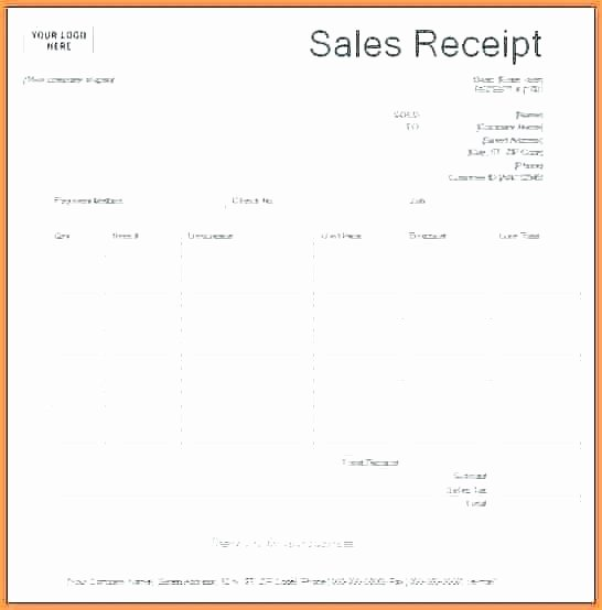 Sales Receipt Template Excel Fresh Sale Receipt Template – Unicteeub