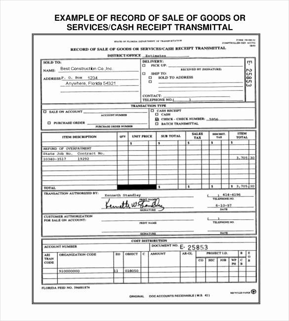 Sales Receipt Template Excel Luxury 29 Sales Receipt Templates Doc Excel Pdf